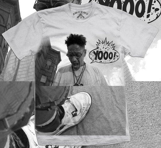 Image of Retro 4 Cement T-Shirt White