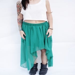 Image of THE ADALINE SKIRT IN GREEN