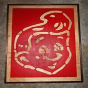 Image of SHT! Head Red on Wood Grain