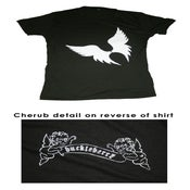 Image of Big Wings- large huckleberry logo w/ cherub detail on reverse