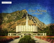 Image of Provo LDS Mormon Temple Art 001-Personalized Temple Art