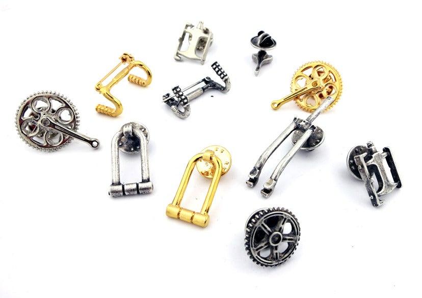 Image of Designer Bicycle Part Pins