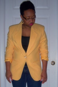 "Image of Yellow ""Savannah"" Blazer sz 8P"