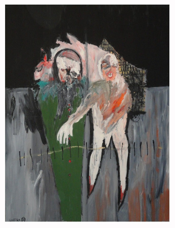 Image of ON HOLD - Original Expressionist Painting by Michael Hafftka -  Edgewalk