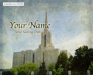 Image of Jordan River Utah LDS Mormon Temple Art 002 - Personalized LDS Temple Art