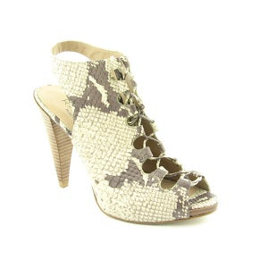 Image of Rachel Roy Leather SnakeSkin Bootie Sandal Sz 7