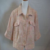 Image of Lane Bryant Pink Tweed Blazer 18