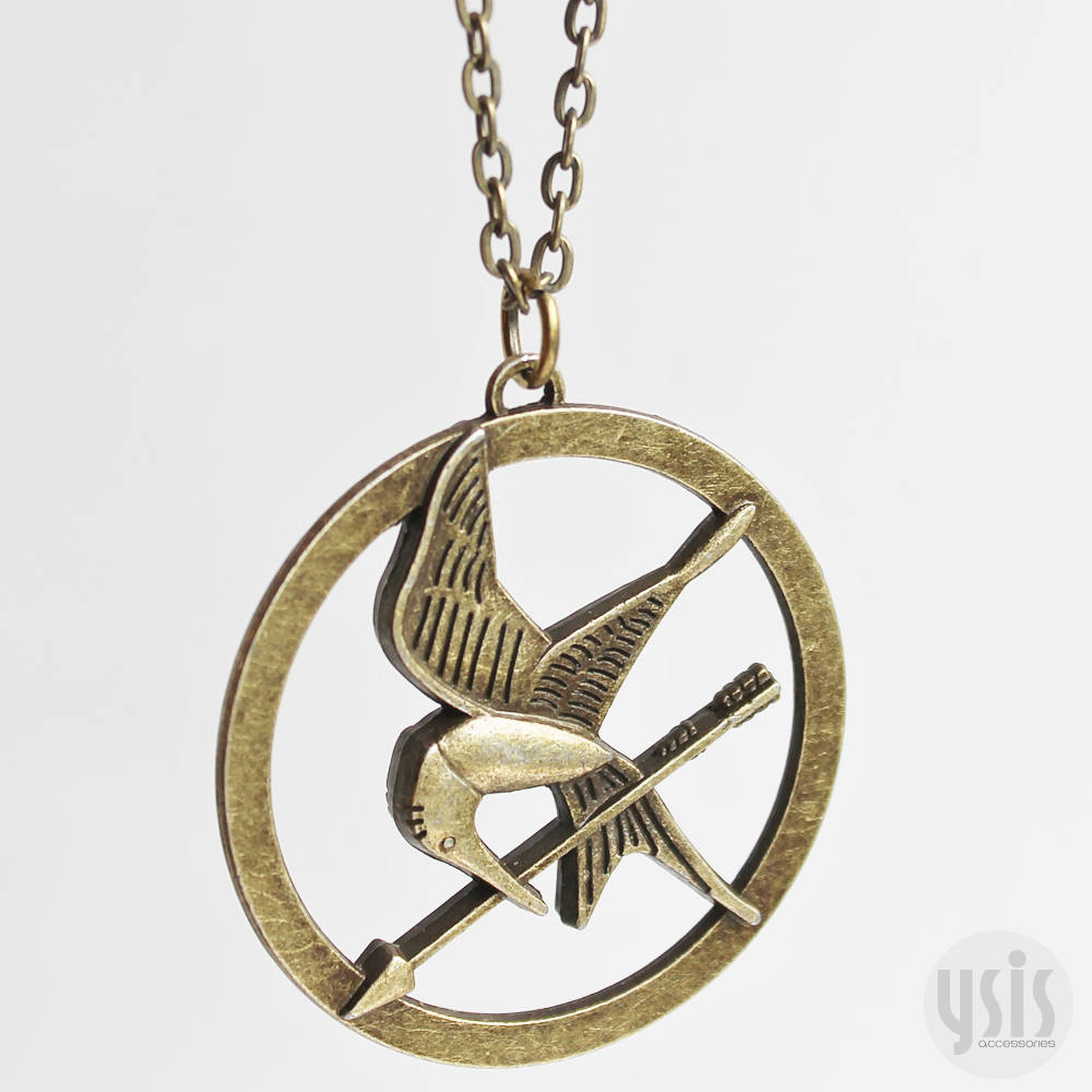 Ysis accessories the hunger games mockingjay necklace image of the hunger games mockingjay necklace mozeypictures Images