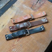 Image of Horween Shell Cordovan Six Rivet Leather Watch Band