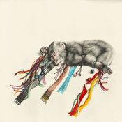 Image of Kirsty Whiten- Giclee Print- Ribbon Monkey- A3