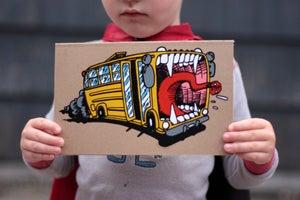 Image of School Bus Sketch Book