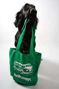 Image of Tote bag, Bully in the key of 666 - green