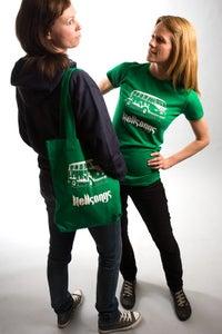Image of Ecologic t-shirt (slim fit, green), Hellsongs bully