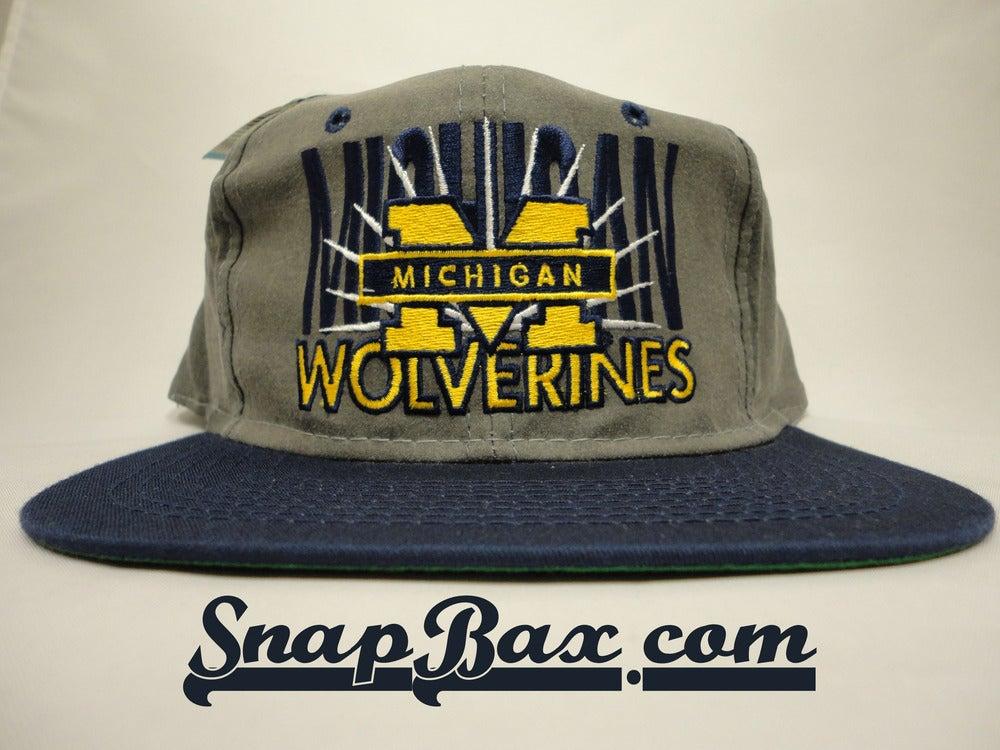 Image of U of M University of Michigan Signature Grey Snapback Cap