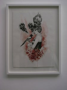 Image of 'One for sorrow' ORIGINAL FRAMED PAINTING
