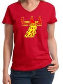 Image of Unisex V-neck Red Peacock Tee