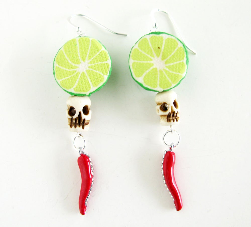 Image of Harvest Skull Earrings