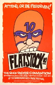 Image of Flatstock 10 Wrestler by Allen Lorde