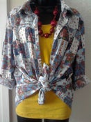 Image of Torrid Blue Floral Shirt Sz 1x