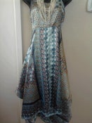 Image of Blue Handkerchief Dress Sz 1X