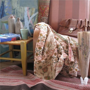 Image of Desert Pink Floral Vintage Throw