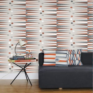 Image of Backgammon Wallpaper - Harvest Orange