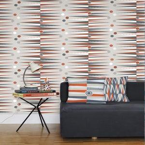 Image of Backgammon Wallpaper - Harvest Orange