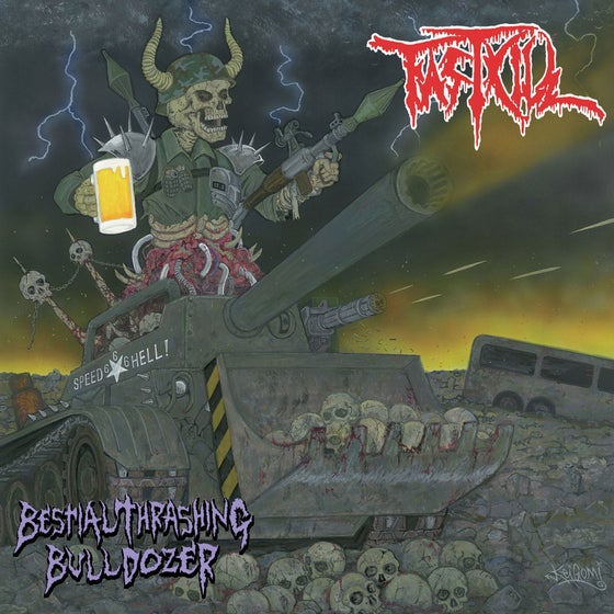 "Image of FASTKILL ""Bestial Thrashing Bulldozer"" Super Jewel Box CD"