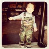Image of Pointer Brand x Buckshot Sonny's Kids Camouflage Overalls