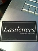 Image of Lastletters. From Her and Here Stickers