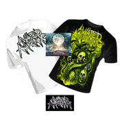 Image of CATHARSIS FULL LENGTH CD/ WHITE & BLACK SHIRT BUNDLE
