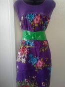 Image of Torrid Purple Net Floral Dress
