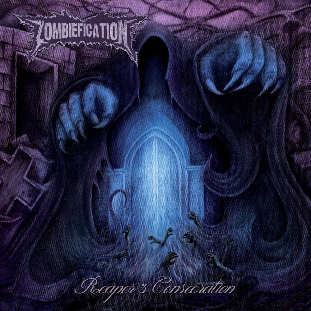 """Image of ZOMBIEFICATION """"Reaper's Consecration"""" Super Jewel Box Mini CD"""