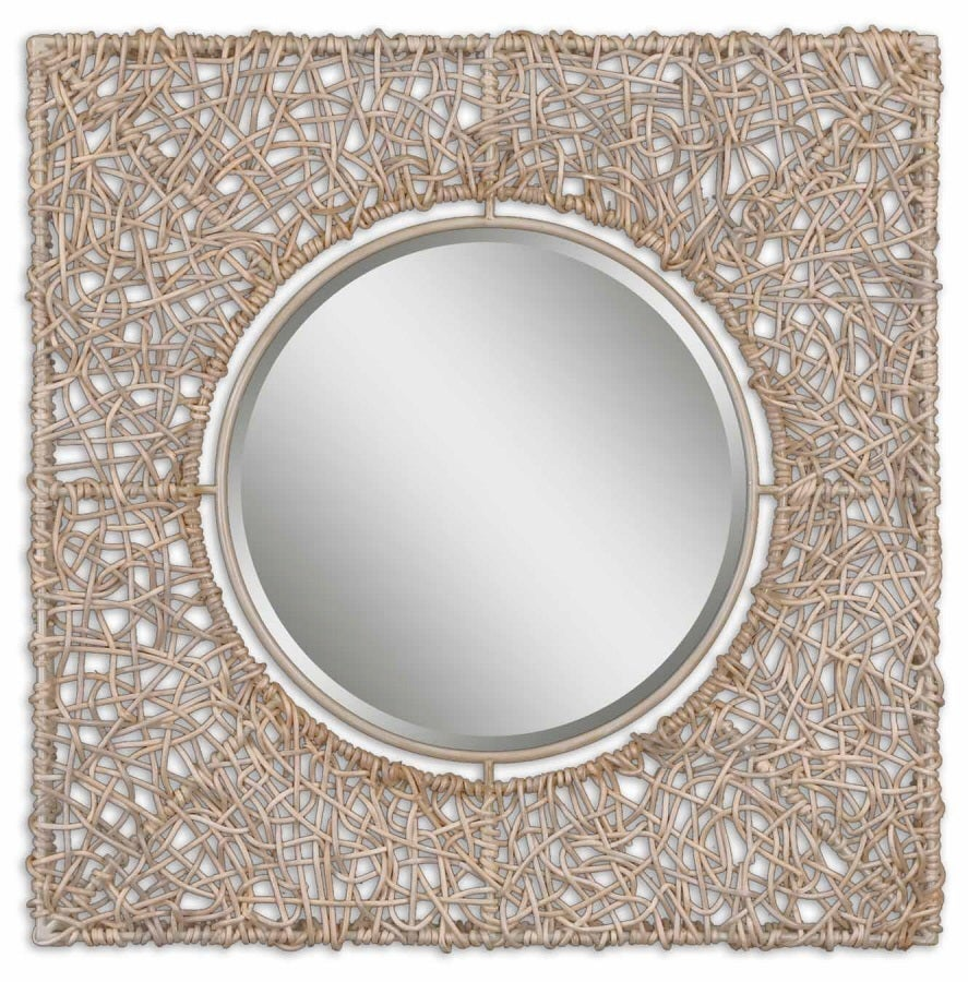 Image of Knotted Rattan Natural Mirror