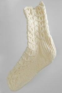 Image of Handmade women's socks - full pattern