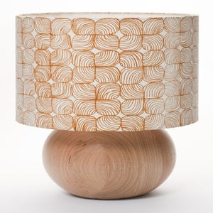 Image of lineal floral bedside ball lamp burnt tangelo