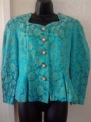 Image of Vintage Turquoise Peplum Blazer sz 14