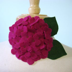 Image of large hydrangea // fuchsia headband