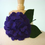 Image of large hydrangea // violet headband