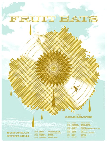 Image of Fruit Bats European Tour Poster