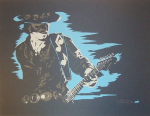 Image of Stevie Ray Vaughn by Billy Perkins