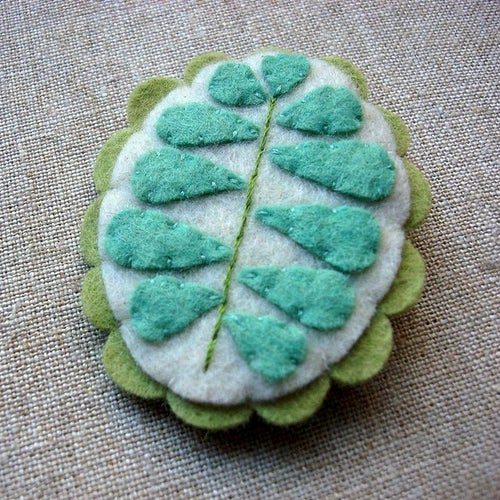 Image of sprout brooches -- made to order