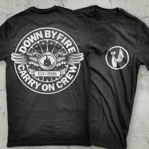 Image of Down By Fire - Charcoal Pilot Wings T-Shirt