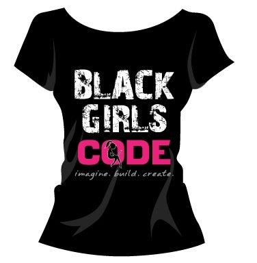 Image of Black Girls Code Tshirt: Design 1