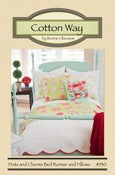 Image of Dots and Charms Bed Runner and Pillows - Paper Pattern #930