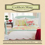 Image of Dots and Charms Bed Runner and Pillows - PDF Pattern #930