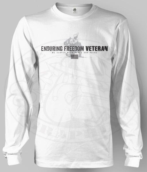 Image of ENDURING FREEDOM VETERAN Long Sleev Shirt