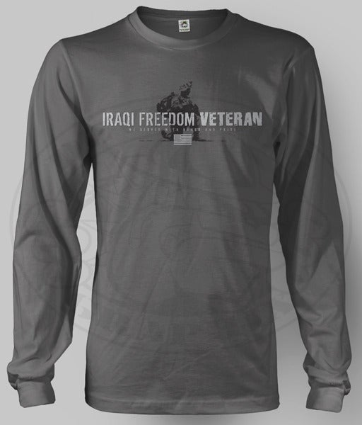 Image of IRAQI FREEDOM VETERAN Long Sleeve Shirt