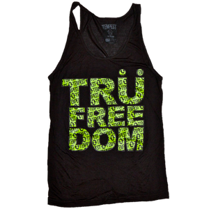 Image of Tru Freedom Unisex Tank (Black/Neon Green)
