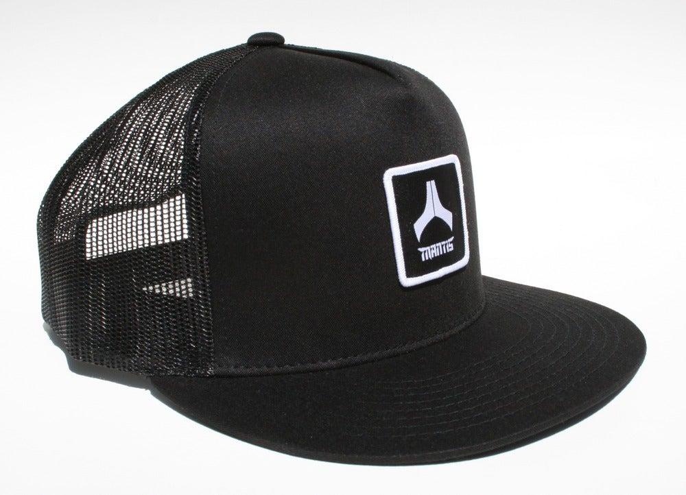 Image of Mantis Hat - Mesh Snapback / Patch / All Black